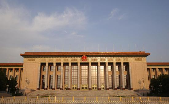 Photo taken on April 29, 2020 shows the Great Hall of the People in Beijing, capital of China. (Xinhua/Xing Guangli)