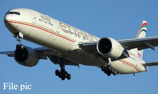 Etihad Airways flight, carrying aid to the Palestinians, landed in Israel on May 19, 2020. (file photo)