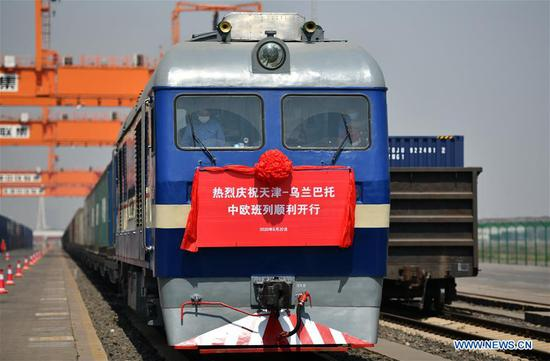 China's Tianjin opens new rail-water freight service