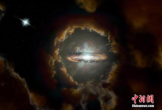 天文学家在早期宇宙中发现了巨大的旋转盘星系