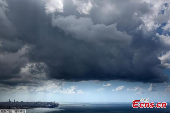 In pics: Storm clouds over Lebanese capital Beirut