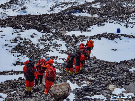 Remeasuring team heading to Mt. Qomolangma summit again after delayed twice by bad weather