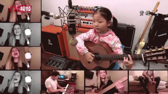 Six-year-old guitarist heals people's hearts through song