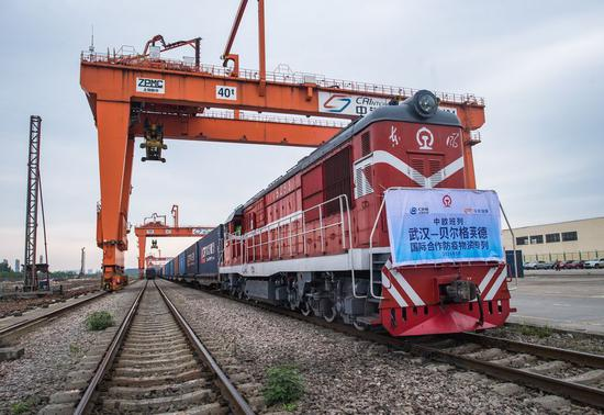 China-Europe freight train delivers medical supplies to Serbia