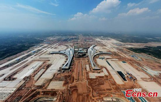 Chengdu Tianfu International Airport under construction