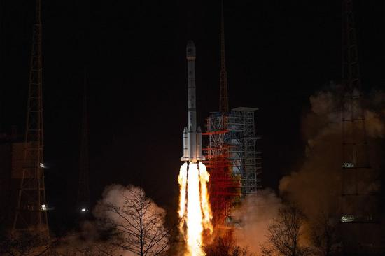 China launches a new satellite of the BeiDou Navigation Satellite System (BDS) from the Xichang Satellite Launch Center in southwest China's Sichuan Province, March 9, 2020, only one step away from completing the whole global system. (Photo by Guo Wenbin/Xinhua)