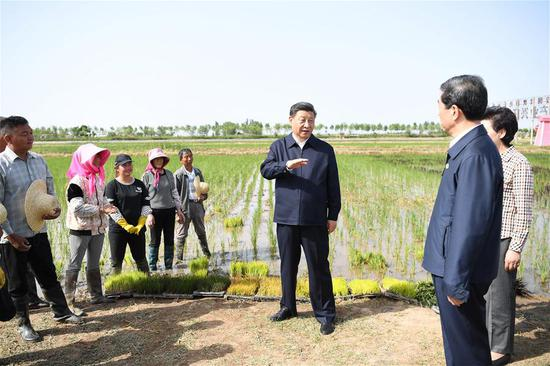 Xi in Yinchuan for inspection