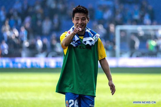 No COVID-19 ill effects as Wu Lei scores on Espanyol return