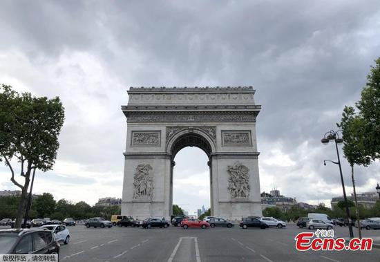 Arc de Triomphe reopens after three months of lockdown