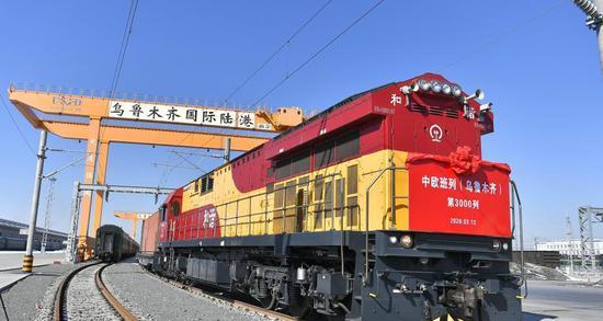 Xinjiang's Alataw Pass sees increasing China-Europe freight trains