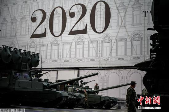 Russian army hold rehearsal ahead of victory parade