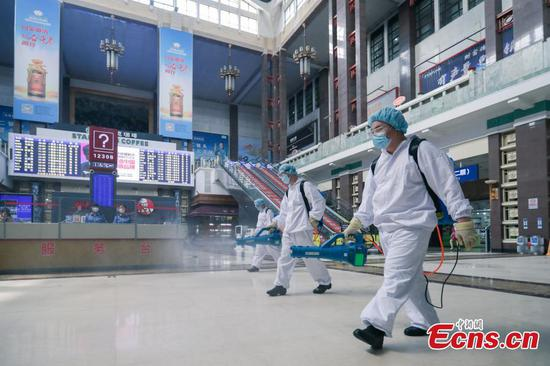 Beijing Railway Station takes strict measures for COVID-19 prevention, control