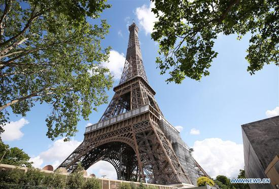 Eiffel Tower to reopen on June 25