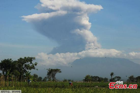Mount Merapi erupts in Indonesia