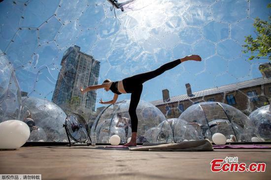 多伦多出现了户外热瑜伽圆顶