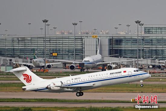 Air China flight linking Chengdu, Frankfurt resumes operation