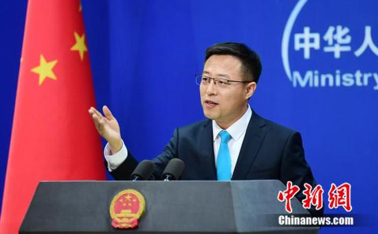 Zhao Lijian, spokesperson for the Chinese Foreign Ministry, addresses a daily press conference on July 2, 2020. (Photo/China News Service)