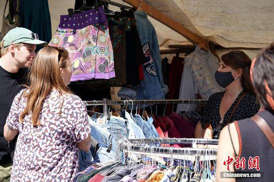 Flea Market reopens in Berlin, Germany