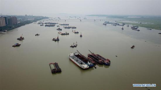 Water level in Dongting Lake rises due to sustained rainfall