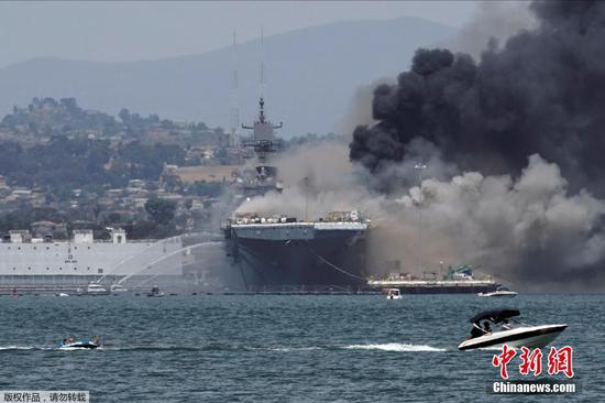 Sailors injured in fire on U.S. Navy ship in San Diego
