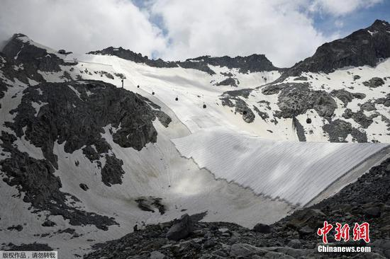 Look: Special wrap for an Italian glacier to save it from melting
