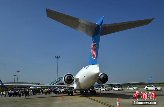 中国南部的ARJ21 Jet完成了少女航班