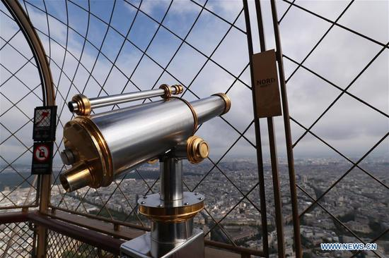 Top of Eiffel Tower reopens to public