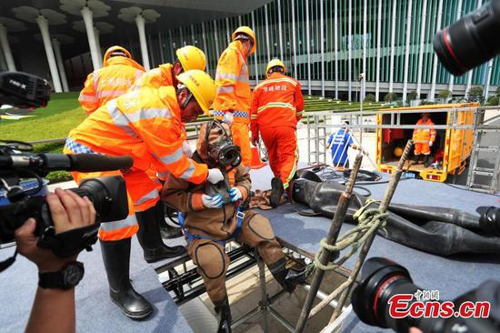 Flood-fighting drills held in Shanghai