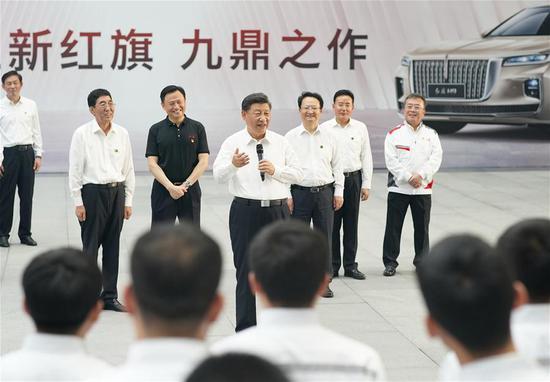 习近平视察中国东北城市长春