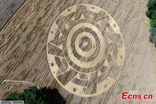 Huge crop circle puzzles crowds in Germany