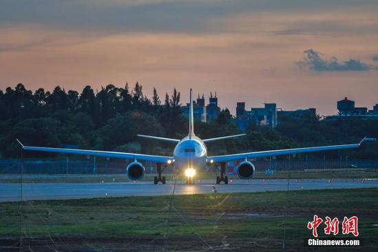 Second phase of Haikou's airport expansion project starts test flight