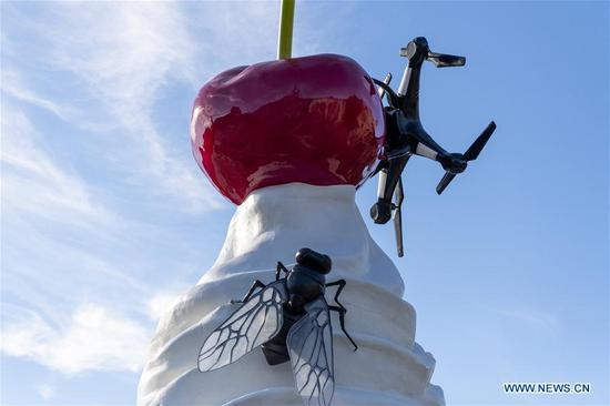 Fourth Plinth sculpture unveiled at Trafalgar Square in London