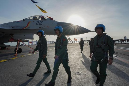 PLA Navy's new warplanes trained in South China Sea: defense ministry