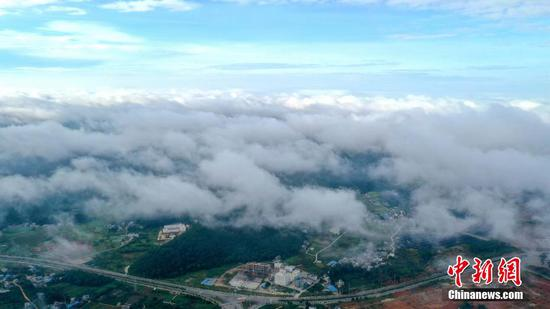 In pics: Spectacular cloud sea in SW China county