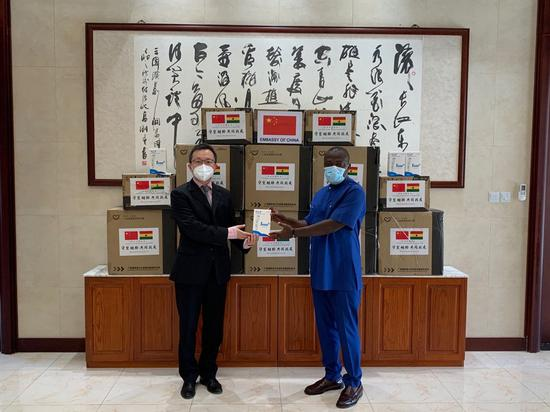 China's Guangzhou donates medical supplies to support Ghanaian capital's COVID-19 fight