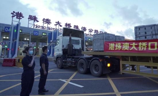 HZMB's Zhuhai-Macao freight passage opens to traffic