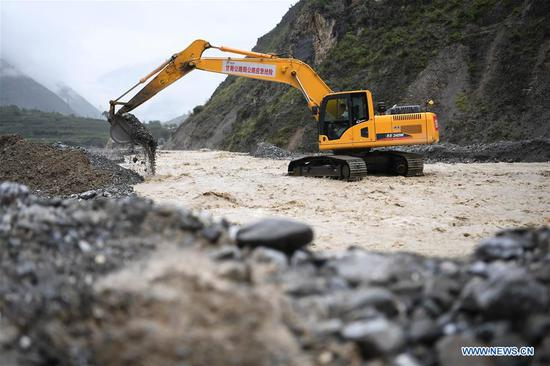 Heavy rains flood rivers in northwest China's Gansu