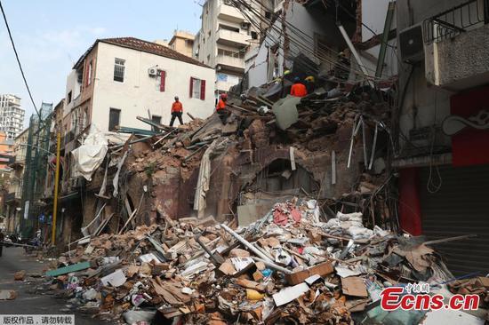 """贝鲁特:爆炸后一个月在瓦砾下检测到""""生命迹象"""""""