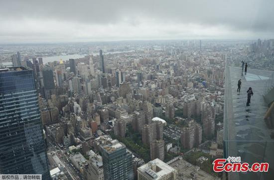 天空甲板将在纽约市哈德逊广场重新开放