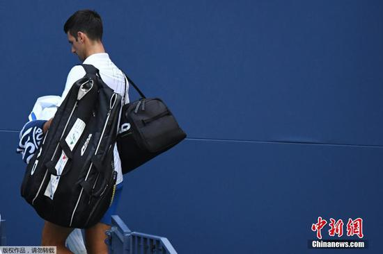 Three-time champion Novak Djokovic defaulted from US Open