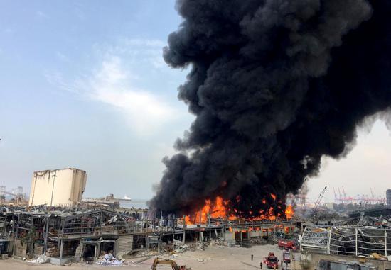 Lebanon controls 70 pct of massive fire at Beirut's port