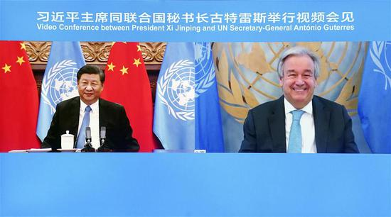 China firmly supports UN's central role in int'l affairs: Xi