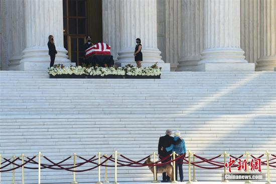 Late Justice Ginsburg lies in repose at U.S. Supreme Court