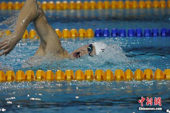 Chinese national swimming championships hold fitness tests