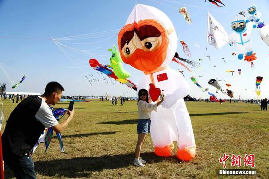 36th Weifang Intl Kite Festival kicks off in E China's Shandong