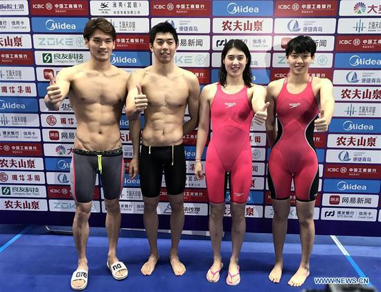 Chinese swimmers shatter world record of mixed 4x100m medley relay
