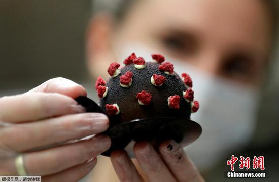 Coronavirus-inspired dessert going 'viral' in Prague