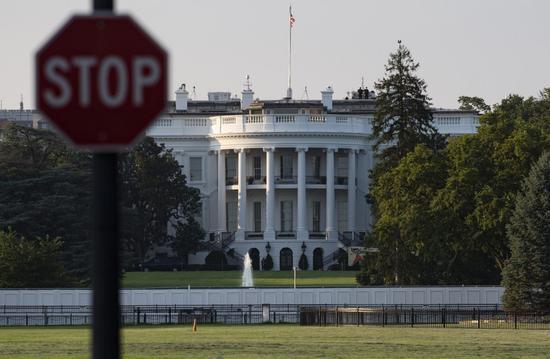 Photo taken on Aug. 10, 2020 shows the White House in Washington, D.C., the United States. (Xinhua/Liu Jie)