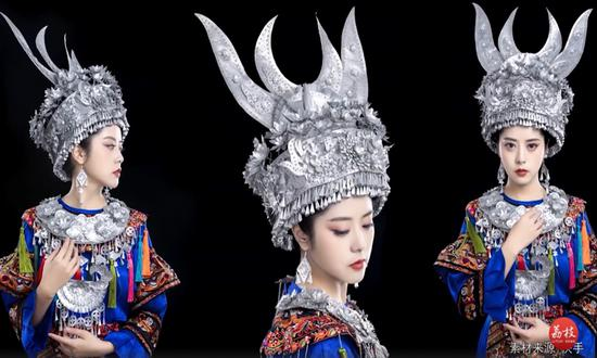 Girl turns tin cans into adornments