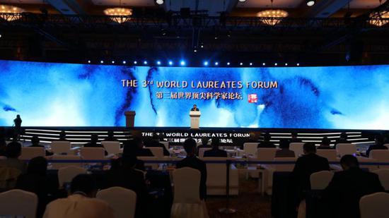 The Third World Laureates Forum kicks off in Shanghai on Oct 30, 2020. (Photo/cctv.com)